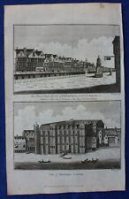 Original antique print LONDON, CHEAPSIDE, BAYNARD'S CASTLE, BOSWELL, 1786