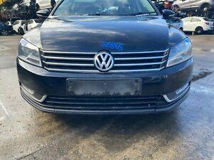 VW PASSAT B7 ESTATE 2013 FRONT BUMPER COMPLETE WITH GRILLS FOGS DEEP BLACK C9X