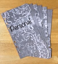 Filofax Personal Organiser Planner - Silver Design Labelled Dividers - Laminated