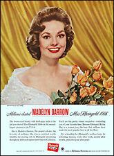 New listing 1958 Miss Rheingold Madelyn Darrow Rheingold Beer retro photo print ad ads22