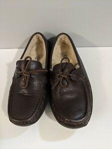 Ugg men's slippers Size 10 black brown 5161