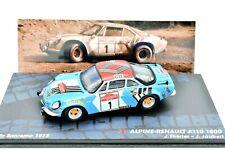 MODELLINO AUTO RALLY ALPINE RENAULT A110 1800 collezione IXO SCALA 1:43 DIECAST