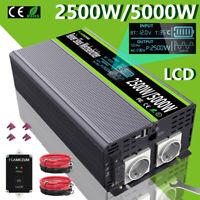 Reiner Sinus Wechselrichter 2500W/5000W 12V 230V Schweißen Spannungswandler LCD