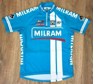 Milram SMS Santini Colnago Blue Uci cycling jersey size M