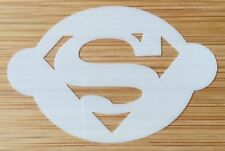 Face paint stencil reusable washable superman 190 Mylar 2.5 in x 1.75