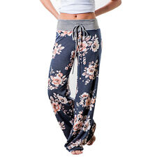Plus Size Womens High Waist Palazzo Trousers Wide Leg Loose Sport Harem Pants
