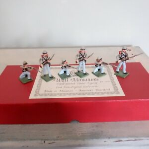 Ron Wall Miniatures Confederates 3-Kneeling and Firing,3-Advancing