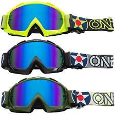 O'Neal B-10 Goggle Warhawk Moto Cross Brille Blau Radium Downhill Enduro DH FR