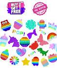 POPIT FIDGET TOY PUSH BUBBLE SENSORY STRESS KIDS FAMILY GAMES
