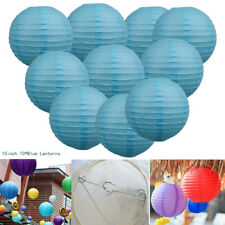 10 PCS 10 inch Chinese Paper Lanterns Wedding Party Home Side Store Decor Blue