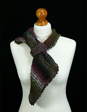 Hand knit multicoloured square scarf - hand made scarf