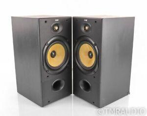 B&W DM-602 Bookshelf Speakers; DM602; Black Pair