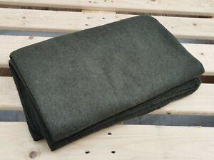 Military wool blanket army olive large 70% wool 220 x 160 cm woollen throw