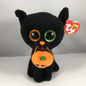 Ty Beanie Boos SHADOW Halloween Black Cat (6 Inch) MINT with MINT TAGS Retired