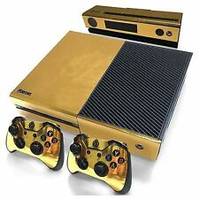 N1 Gold Glossy Skin Sticker for Xbox One Console Controller Kinect Decal N1p2