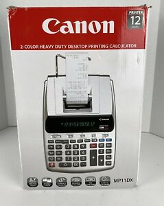 New CANON MP11DX-2 Heavy Duty Desktop Printing Calculator 2 Color 12 Digits