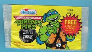 TMNT Teenage Mutant Ninja Turtles, 1990 Hostess Pie - Leonardo - Wrapper
