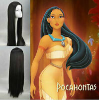 "Disney Princess "" Pocahontas "" Indian princess Pocahontas black cosplay wig"