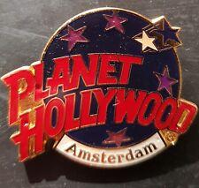 Planet Hollywood Pin / Badge Amsterdam Classic Dark Blue Globe Logo