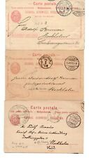 SWITZERLAND: Lot 3 postcards to Sweden 1887-1908. Arr.canc.