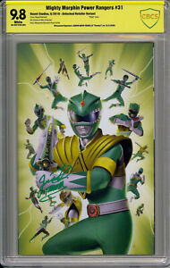 MIGHTY MORPHIN POWER RANGERS #31 LAFUENTE GREEN RANGER SIGNED BY JDF