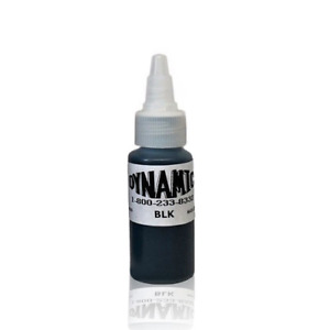 Dynamic Black Tattoo Ink - 1oz - Original bottle for lining and shading