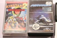 2X RARE GAMES COMMODORE 64 (C64) - AIRWOLF & KIKSTART 2  BY MASTERTRONIC & ELITE