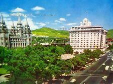 Vintage Mormon Temple Square Salt Lake City Utah - Color Postcard Color Card