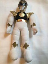 Vintage Power Rangers Stuffed Figure 19? White/Black Saban Entertainment 1993