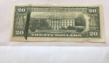 mint error 1977 Ink smear  $20 federal reverse note  , XF