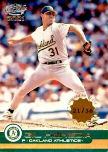 2001 Pacific Gil Heredia 21/36 Premiere Date #306 Oakland Athletics