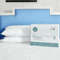 Puredown Feather Down Bed Pillow Set of 2 Pillows Bedding Set Queen King Size