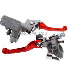 Red Master Cylinder Reservoir Hydraulic Brake Clutch Levers Honda CRF250R 04-12