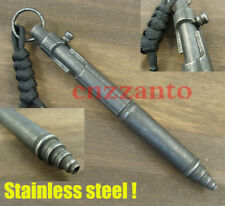 Stainless steel Bolt Action rifle style ball point Kubaton pen Emergency gear