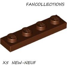 LEGO-X5 Reddish Brown Plate 1 x 4 ,  3710  NEUF