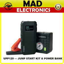 UNIDEN UPP120 BATTERY JUMP STARTER KIT USB POWER SUPPLY LIGHT AIR COMPRESSOR