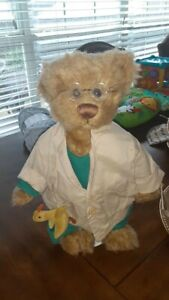 Ganz Cottage Collectibles Bear Dr. Dogood With Original Eye Glasses
