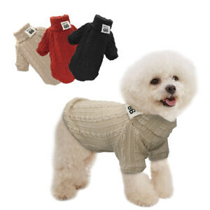 Warm Pet Dog Jumper Sweater Small Puppy Knitted Winter Clothes Cat Knitwear XS-L