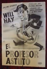 El Profesor Astuto  Will Hay (The Goose Steps Out) Ealing Studios