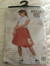 1950's Girl Poodle Skirt Scarf Costume Child Sock Hop Halloween Costume (Small)