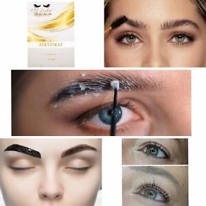 Wimpernlifting + Browlifting + Henna Brows 3 Zertifikat Schulung Selbststudium