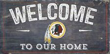 """Washington Redskins Welcome to our Home Wood Sign  NEW 12"""" x 6""""  Decoration Gift"""