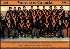 1982 VANCOUVER CANUCKS TEAM PHOTO 8X10