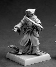 Khavith Serpentfolk Evoker Reaper Miniature Pathfinder Lizardman Wizard Caster