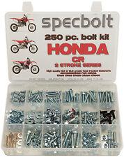 250pc Honda CR Bolt Kit 60 80 85 125 250 500 CR85 Exp Plastics body engine frame