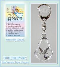 Pewter Angel Crystal Keyring / 50mm Swarovski Crystal Starburst