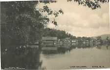 A View of the Boat Houses on Lake Salubria, Bath Ny 1915