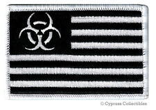ZOMBIE STATES OF AMERICA PATCH embroidered iron-on BIOHAZARD SYMBOL UNITED BLACK
