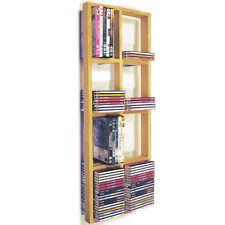 IRIS - Double Wall Mounted CD / DVD / Blue ray Storage Shelf - Natural CHW1042