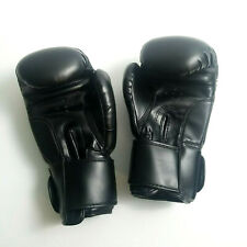 Kick Boxing Gloves Black Training Gym Punching Sparring 12 oz.